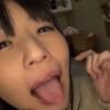 【つぼみ】きれいにごっくんしたよ!舌を出して見せてくれる