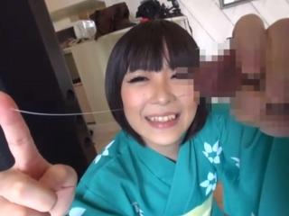 【個人撮影】浴衣のお姉さんを自宅に連れてきてフェラしてもらう【口内射精】