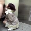 【素人】ギャルっぽい少女が公園の公衆トイレでお金のためにしゃぶってくれる【援交】