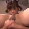 【紗倉まな】猫耳下着美少女にちんぐり返しでたっぷり責められて手コキ射精