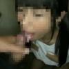 【個人撮影】トイレでやばいモザイク少女にしゃぶらせて舌上射精