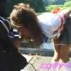 公園で盛りだしたJKカップルの様子を盗撮wおさまらないチンポは彼女のフェラ抜きで♡