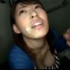 【個人撮影】素人巨乳女性が多目的トイレでおっぱい揺らしながらチンポしゃぶって男たちのザーメンを顔に受け止める【】