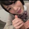 【鈴村あいり】トイレでJK彼女にじゅぷ…じゅぷ…と秘密のゆっくりフェラチオ【手コキ顔射】