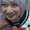 上京してきた猫耳銀髪コスプレイヤーが公衆トイレでお口援交【口内射精】