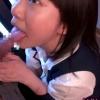 目隠し援交美少女が公衆トイレでおじさんの臭いちんぽをおしゃぶり♡【口内射精】