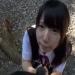 【愛須心亜】『おっきくなってる…』野外でロリJKにちんぽしゃぶらせてぬるぬる唾液で手コキしてもらう【舌上射精】