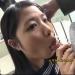 【個人撮影】ベランダで援交JKのあたたかなお口で亀頭をじゅぽじゅぽしてもらって口内射精♡
